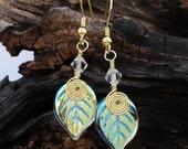 Fairy Lights Gold Leaf Earrings