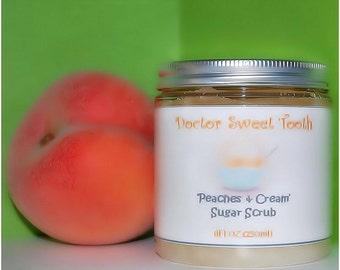 Peaches and Cream Sugar Scrub (Paraben Free)