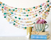 Sweet Cup of Tea 25' Wedding Paper Garland Wedding, Photography, Nursery, Bridal Shower