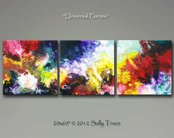 Canvas Giclee, from my Abstract Painting UNIVERSAL FORCES, Modern Art, Contemporary Art