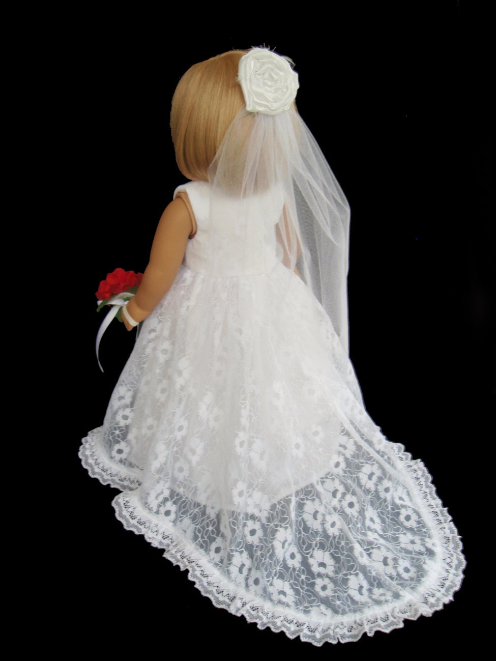 American girl doll clothes traditional wedding gown dress for American girl wedding dress