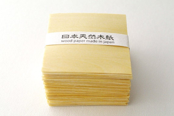 Refill 100pcs wood paper made in japan - A type
