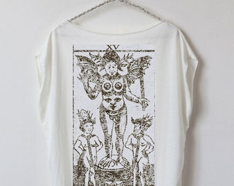 tarot card shirt : card 15 - The Devil