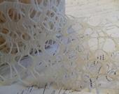 2 Inch Woven Web Ribbon in Creamy Ivory