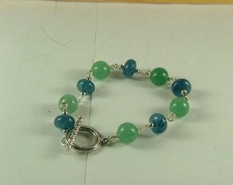 Apatite and Jade Bracelet-B1