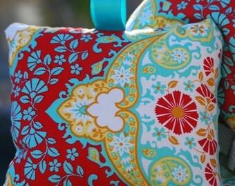 Shopping Cart Cover - Custom Boutique Cart Cover - Kaleidoscope in Poppy