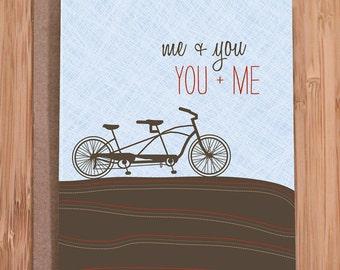 anniversary card / tandem bike