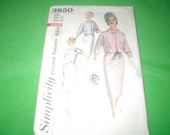 Vintage Sewing Pattern Simplicity Dress and jacket size 14