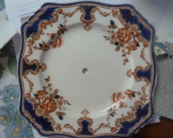 Drilled Vintage Plate for Repurposing