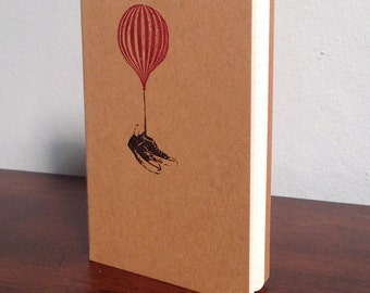 Flying Shoes - Gocco Screen-Printed Lined Notebook