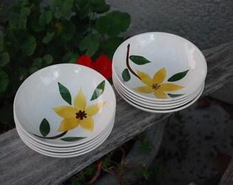Vintage Mid Century Golden Jasmine Small Bowls (10)