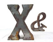 Vintage Extra-Large Metal Marquee Letter - edithandolive