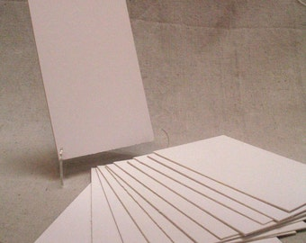 12 Pieces of 4-Ply White Chipboard Precut-Arts/Crafts/Backing Boards-5x7-8x10-11x14