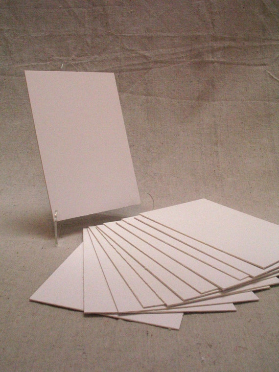 Pieces of ply white chipboard precut arts crafts backing