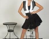 Burning Man Flared Sheer Skirt Black Small Medium Large