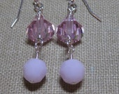 SALE - For the Pink Ball Two-Drop Earrings - E693