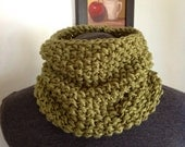 Olive Seed Stitched Cowl