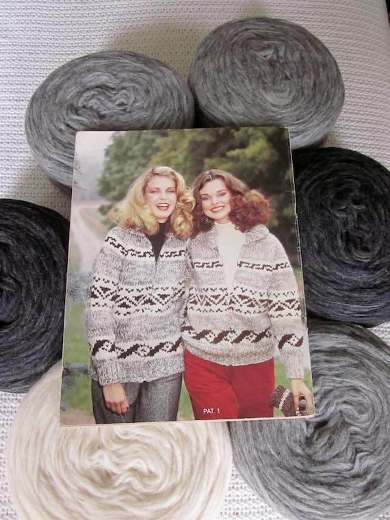 Knitting Kit Cowichan Sweater Geometric Pattern Canadian