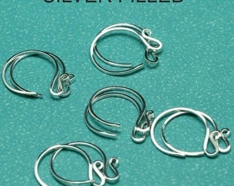 Silver-Filled Fancy Ear Wires - 10 Pair