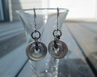 Industrial Earrings Hex Nut and Washer