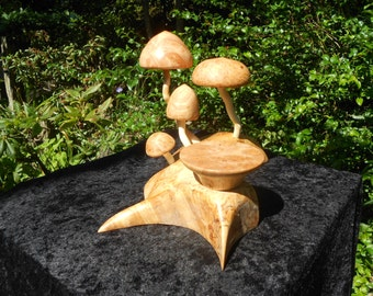 Magnificent mushrooms Life cycle......, candle stand, candle holder, sculptural candle holder ON SALE this week....65.00