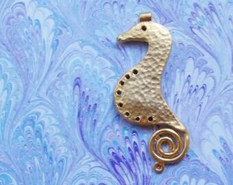 Golden Seahorse Pendant