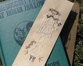 Navajo Sandpainting Style Hand Embroidered Bookmark