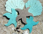 25 Seed Paper Starfish Beach Wedding Favors - Plantable Paper Shells - Destination Wedding Favor - Tropical Beach Wedding Decor Place Cards