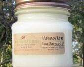 HAWAIIAN SANDALWOOD CANDLE - Highly Scented