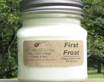 FIRST FROST SOY Candle - Highly Scented - Vanilla Mint