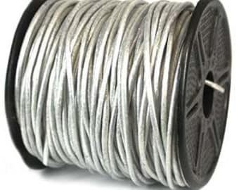 Genuine India Leather Cord 1mm PEARL WHITE 25 Yards 42975-sp