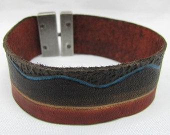 Leather Bracelet/Cuff - South Scape
