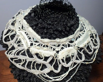 Original Handbeaded Freeform Style Elegant Necklace Adds Unique Designer Touch and is Stunning