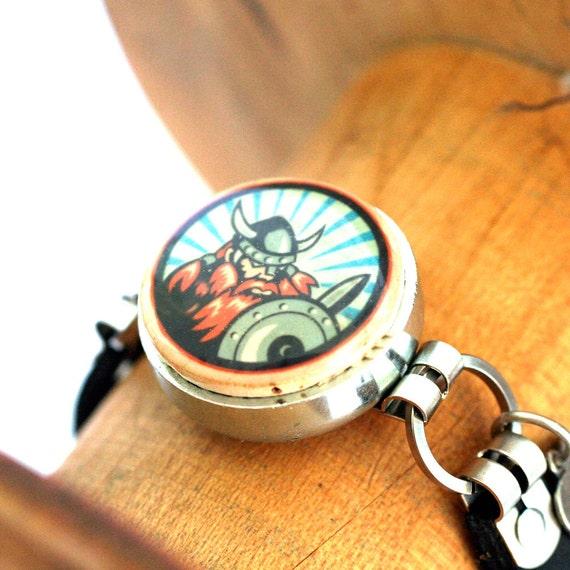 VIKING Jewelry - Viking Bracelet - Wine Cork Bracelet - Leather Bracelet - Explorer Gift - Any Size, Choice of Color - Recycled - Uncorked