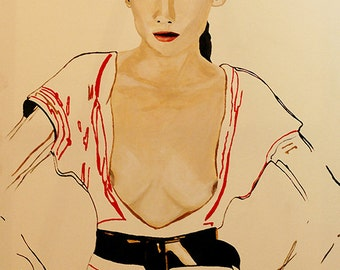 Untitled- Fashion Painting Art Print // Limited Edition