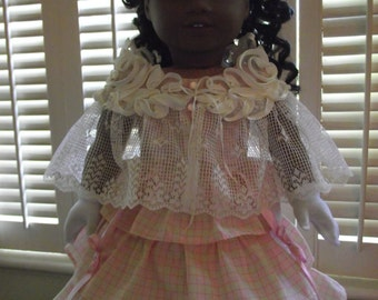American Girl Antique Lace Historical Shawl Capelet 1800s OOAK
