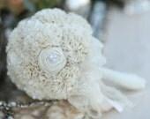 RESERVED Fabric Bouquet, Weddings, Cotton Bouquet, Vintage Wedding, Alternative Bouquet