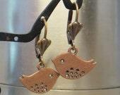 Boucles d'oreilles cuivre Birdie