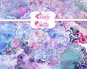 Buy 1 Get 1 Free Vintage Shabby Rose Floral Lace Doilies Fancy Antique Clipart No.3 Scrapbooking Digital Chic Graphics INSTANT DOWNLOAD