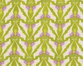 Fabric, Heather Bailey Fabric,  Lottie Da Papillon - Olive Butterflies, SALE, 3.99 per Yard, Fabric Sale