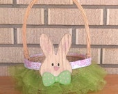 SALE! Green & Pink Easter Basket, READY to Ship!