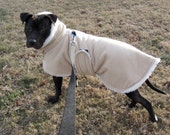 Medium Large Fleece and Sherpa Dog Coat-- with or without Snood