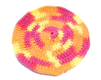 Playtime Crocheted Round Dish Cloth