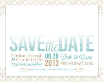 Save the Date Beach Wedding