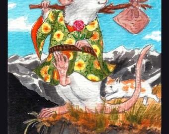 The Fool: The Rata Arcana Tarot. Blank card for the mystical rat lover.