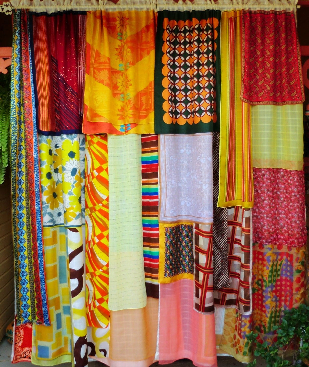 Circus on the moon gypsy curtains for Star curtain fabric