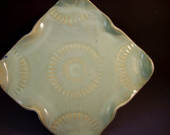 Handmade Pottery Appetizer/ Serving Platter/Serving Tray