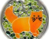 Orange Fat Cat Suncatcher