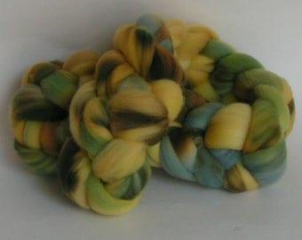 Roving Top Fiber Merino GEODE Fine Merino Wool Top Hand Painted Spin Felt Craft 4 ounces