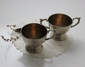 vintage silver plate sugar and creamer